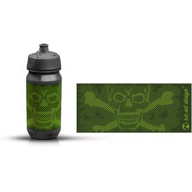 rie:sel design bot:tle 500ml skull honeycomb green